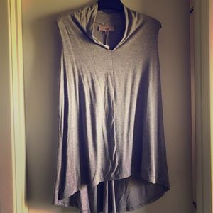 NWT Philosophy hi-lo tunic. Sexy V neck. Grey 0x